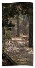 Boardwalk Through The Woods Hand Towel
