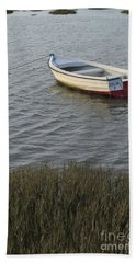 Boat In Ria Formosa - Faro Bath Towel