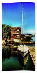 Boat Landing P O C Hand Towel by Joseph Hollingsworth