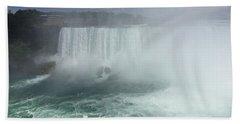 Boat Near Niagara Falls Hand Towel