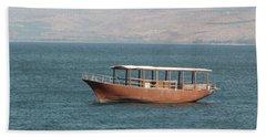 Boat On Sea Of Galilee Hand Towel
