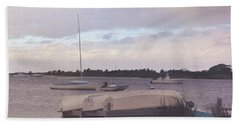 Boat Parking Hand Towel by JAMART Photography