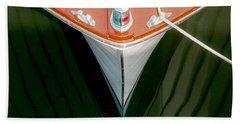 Vintage Boat Mirror Water Reflection Bath Towel