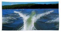 Bath Towel featuring the photograph Boat Wake by Patti Whitten