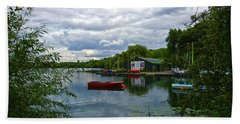 Boathouse Hand Towel by Anne Kotan