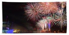 Boathouse Fireworks Hand Towel