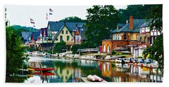 Boathouse Row In Philly Hand Towel