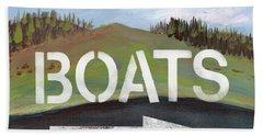 Boats- Art By Linda Woods Hand Towel