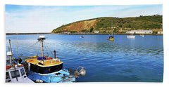 Bath Towel featuring the photograph Boats At Friendly Bay by Nareeta Martin