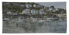 Hand Towel featuring the photograph Boats At Looe by Brian Roscorla