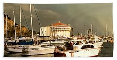Bath Towel featuring the photograph Boats Catalina Island California by Floyd Snyder