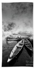 Boats Hand Towel by Charuhas Images