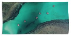 Bath Towel featuring the photograph Boats Floating In Sea by Pradeep Raja PRINTS