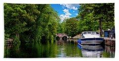 Boats In Norwich Bath Towel