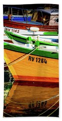 Boats In Rovinj Hand Towel