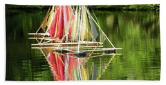 Boats Landscape Hand Towel