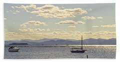 Boats On Lake Champlain Vermont Bath Towel