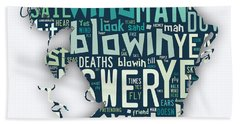 Bob Dylan Blowin In The Wind Hand Towel
