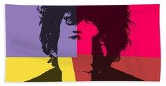 Bob Dylan Pop Art Panels Hand Towel