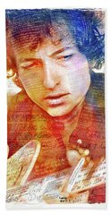 Bob Dylan Songwriter Hand Towel