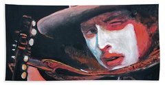 Bob Dylan Bath Towel by Tom Carlton