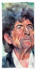 Bob Dylan Watercolor Portrait  Hand Towel