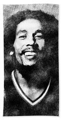 Bob Marley Portrait Bath Towel