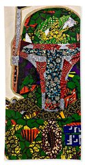 Bath Towel featuring the tapestry - textile Boba Fett Star Wars Afrofuturist Collection by Apanaki Temitayo M