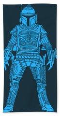 Boba Fett - Star Wars Art, Blue Hand Towel