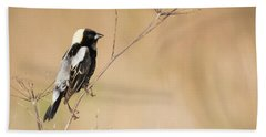 Hand Towel featuring the photograph Bobolink  by Ricky L Jones