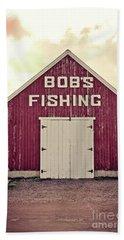 Bob's Fishing North Rustico Bath Towel by Edward Fielding