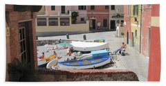 Boccadasse-  Genoa- Harbor Bath Towel