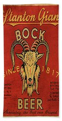 Bock Beer Hand Towel by Greg Sharpe