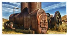 Old Boiler Bodie State Park Hand Towel by James Hammond