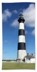 Hand Towel featuring the photograph Bodie Island Lighthouse Cape Hatteras by Dorothy Maier