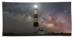 Bodie Island Lighthouse Milky Way Galaxy  Bath Towel