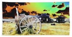 Hand Towel featuring the photograph Bodie Wagon by Jim and Emily Bush