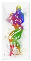 Bodybuilder Watercolor 2 Bath Towel