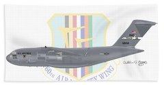 Hand Towel featuring the digital art Boeing C-17 Globemaster IIi Travis Afb by Arthur Eggers