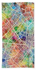 Bogota Colombia City Map Hand Towel