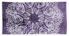 Boho Floral Mandala 2- Art By Linda Woods Bath Towel