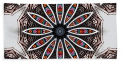 Hand Towel featuring the digital art Boho Flower by Mo T