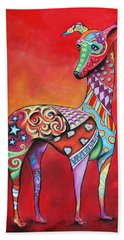 Italian Greyhound  Hand Towel by Patricia Lintner