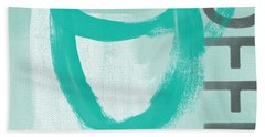 Bold And Strong In Blue- Art By Linda Woods Hand Towel