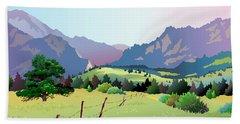 Bolder Boulder Poster 2009 Hand Towel