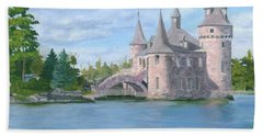 Hand Towel featuring the painting Boldt's Power House by Lynne Reichhart
