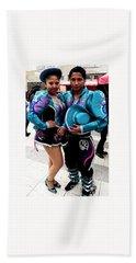 Bolivian Couple Dancers Hand Towel