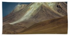 Hand Towel featuring the photograph Bolivian Highland by Gabor Pozsgai