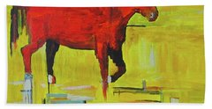 Bath Towel featuring the painting Bolt by Brenda Pressnall