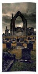 Bolton Abbey In The Stormy Weather Bath Towel by Jaroslaw Blaminsky